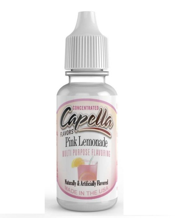 Capella Pink Lemonade flavour is produced in the US and is sold in original 13ml bottles.