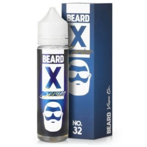 Beard N.32 is an apple funnel cake with the right amount of sugar and cinnamon. This shortfill e-liquid is produced in the US by Beard Vape Co. with a PG/VG ratio of 40%PG/60%VG and is sold per 50ml in a 60ml bottle so you can add 10ml base.
