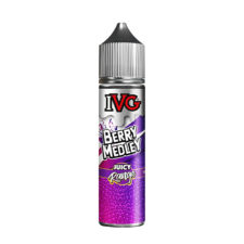 Berry Medley by IVG Juicy Range is a cocktail of black currant, raspberries and apple. This 30%PG/70%VG shortfill e-liquid comes in 60ml bottles filled up to 50ml. Produced in the UK.